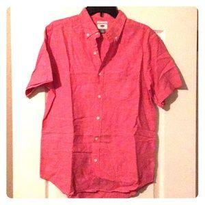 Men's small short-sleeve button up shirt